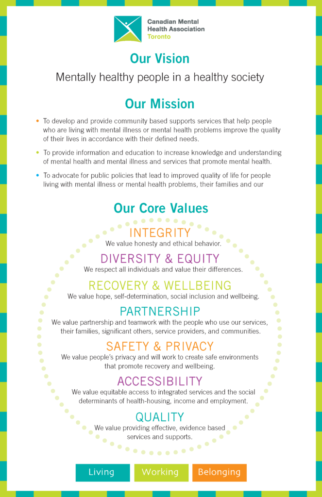 Our Vision and Values - CMHA Toronto