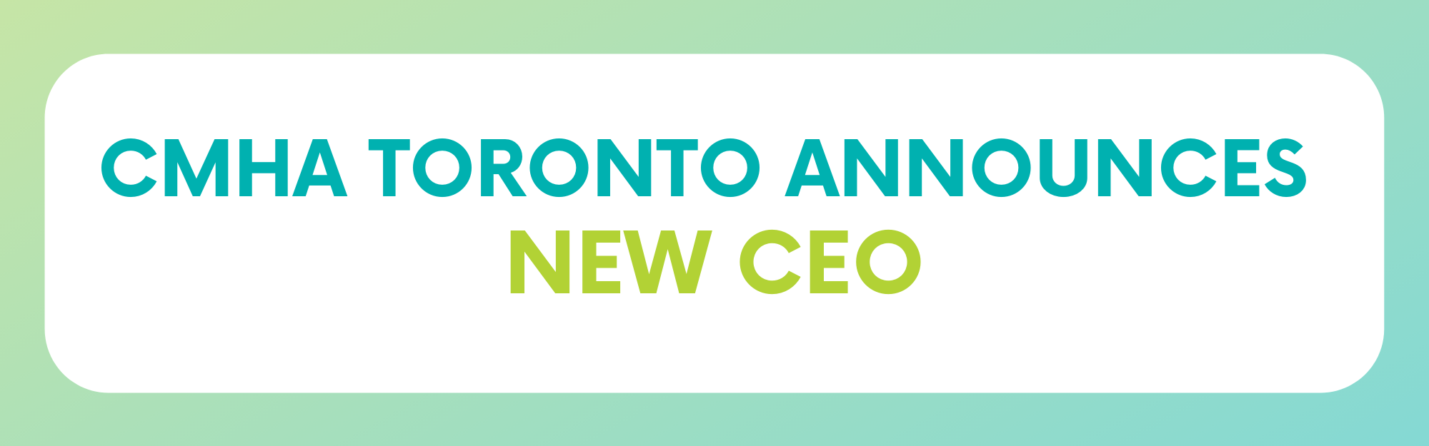 The Canadian Mental Health Association (CMHA) Toronto Branch announces Michael Anhorn as new CEO