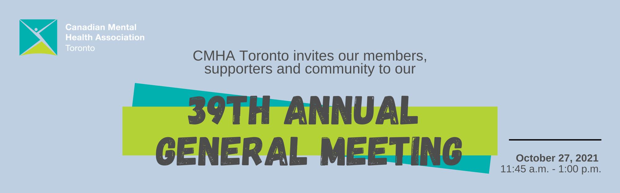 CMHA Toronto 2021 Annual General Meeting